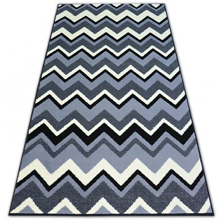 Carpet BCF BASE ZIGZAG 3812 black/grey