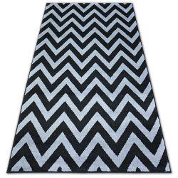 Koberec BCF BASE CLINED 3898 CIKCAK černá/šedá