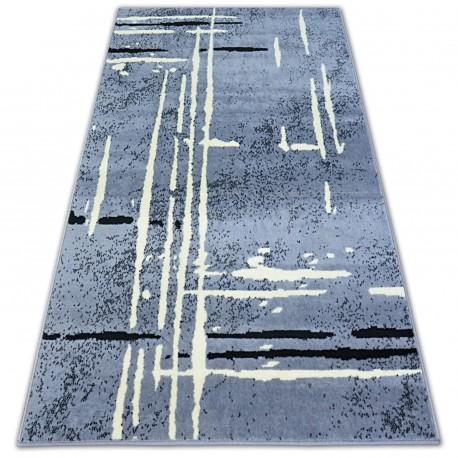 Ковер BCF BASE FUZZY 3909 линии серый/черный