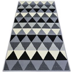 Tapete BCF BASE TRIANGLES 3813 TRIÂNGULOS preto/cinzento
