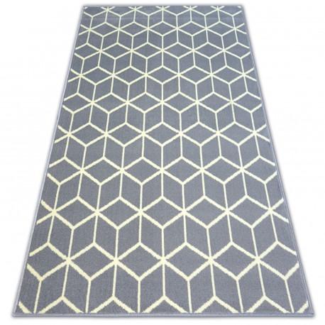 Bcf szőnyeg BASE CUBE 3956 négyzetek szürke