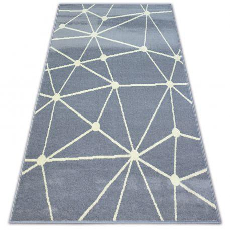 Ковер BCF BASE GALAXY 3925 треугольники серый