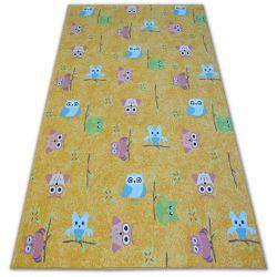 Teppich für Kinder OWLS gelb