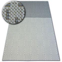 Alfombra de cuerda sisal FLAT 48722/637 Bicolor crema/gris
