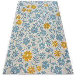 Pastel szőnyeg 18414/062 - Virágok krém türkiz arany