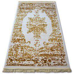 Koberec ACRYLOVY MANYAS 192AA Slonová kost/Zlato fringe