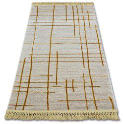 Akril manyas szőnyeg 191AA Elefántcsont/Arany rojt