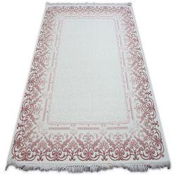 Килим AKRYL MIRADA 0143 кремовий рожевий Бахрома