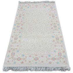 Teppich ACRYL MIRADA 0137 Sahne (Pembe) Franse