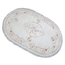 Carpet ACRYLIC Oval MIRADA 0140 Cream ( Pembe ) Fringe