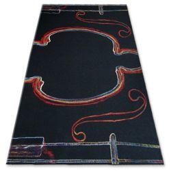 Carpet FOLK KAPELA black