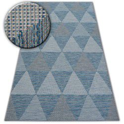 Tappeto DI SPAGO SIZAL LOFT 21132 TRIANGOLI avorio/argento/blu