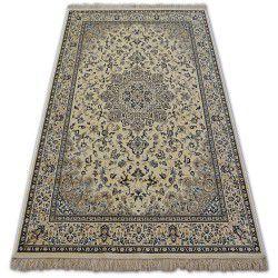 Teppich WINDSOR 22915 ROSETTE JACQUARD elfenbein/blau