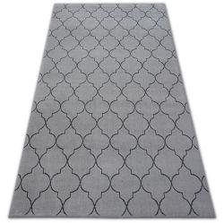 Teppich SENSE Micro 81220 TRELLIS Silber/Anthrazit