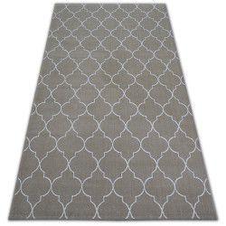 Teppich SENSE Micro 81220 TRELLIS beige/weiß
