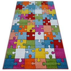 Dywan PAINT G4775 - Puzzle krem/niebieski