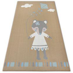 Loko Gyerekeknek szőnyeg Egér bézs csúszásgátló