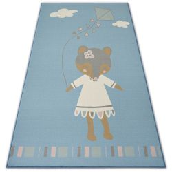 Ковер для детей LOKO мышь синий антискольжение