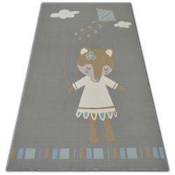 Loko Gyerekeknek szőnyeg Egér szürke csúszásgátló