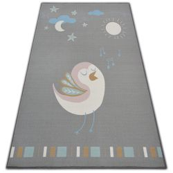 Ковер для детей LOKO птица серый антискольжение