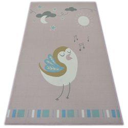 Килим для дітей LOKO птах рожевий анти-ковзання