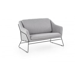 Double Armchair SOFT 2 XL light grey