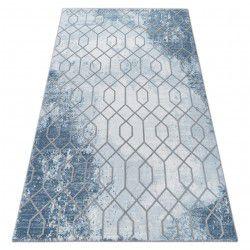 Килим AKRYL VALENCIA 3951 HEKSAGON синій / сірий