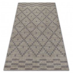 Carpet SOFT 8047 DIAMOND PATTERN cream / light brown