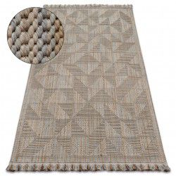Teppich NATURE SL160 beige franse SIZAL BOHO