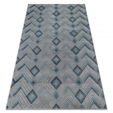Koberec SIERRA G5015 Rybí kost ploché tkané modrý