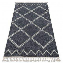 Carpet BERBER ASILA B5970 grey / white Fringe Berber Moroccan shaggy