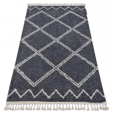 Koberec BERBER ASILA B5970 šedá / bílá Třepení berber maročtí shaggy střapatý