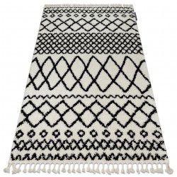 Teppich BERBER SAFI N9040 weiß / schwarz Franse berber marokkanisch shaggy zottig