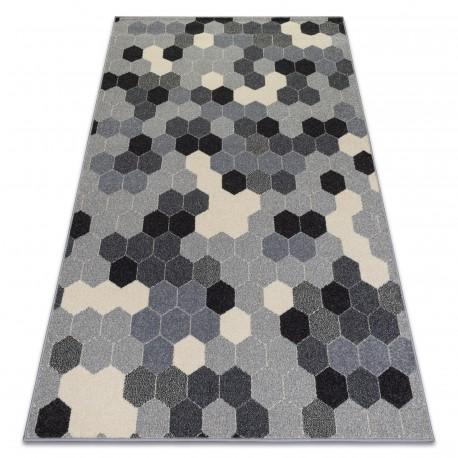 Carpet HEOS 78537 grey / cream HEXAGON