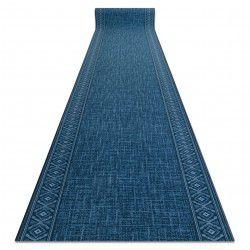 Alfombra de pasillo con refuerzo de goma SARAH azul