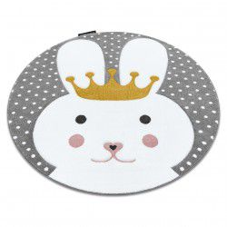 Carpet PETIT BUNNY circle grey