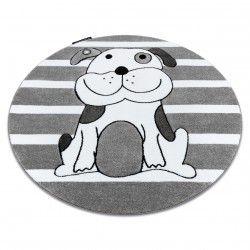 Koberec PETIT ŠTĚNĚ kruh šedá