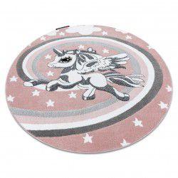 PETIT szőnyeg PONY kör rózsaszín