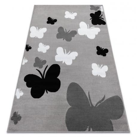 Dywan BCF ANNA Butterfly 2650 Motyle szary / ciemnoszary
