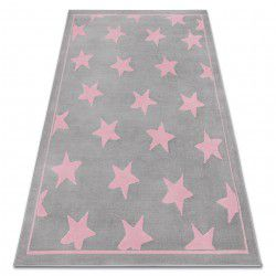 Carpet BCF ANNA Stars 3105 grey / pink