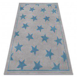 Dywan BCF ANNA Stars 3105 Gwiazdki szary / niebieski