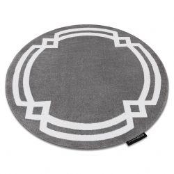 Koberec HAMPTON Lux kruh šedá