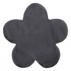 Carpet NEW DOLLY flower G4372-1 grey anthracite IMITATION OF RABBIT FUR