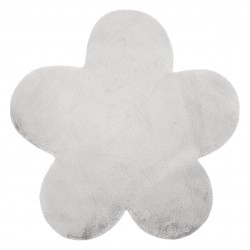 Carpet NEW DOLLY flower G4372-2 silver IMITATION OF RABBIT FUR