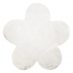 Tappeto NEW DOLLY fiore G4372-3 bianca IMITAZIONE PELLICCIA DI CONIGLIO