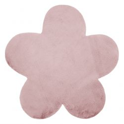 Carpet NEW DOLLY flower G4372-8 pink IMITATION OF RABBIT FUR