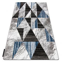 Tappeto ALTER Nano triangoli blu