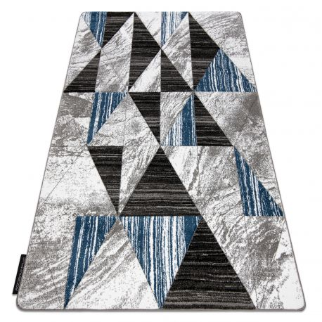 Koberec ALTER Nano trojúhelníky modrý