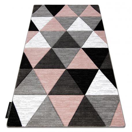 Koberec ALTER Rino trojúhelníky růžový