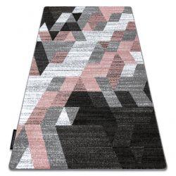 Carpet INTERO TECHNIC 3D Diamonds Triangles blush pink